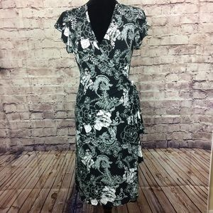 Nwt Susan Lawrence floral wrap dress
